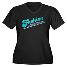Fashion is Transient Women's Plus Size V-Neck Dark