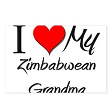 I Heart My Zimbabwean Grandma Postcards (Package o