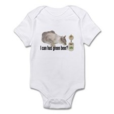 I Can Has Green Beer? Lolcat Infant Bodysuit