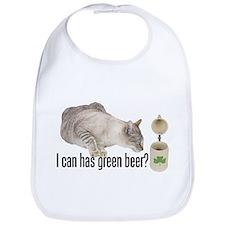I Can Has Green Beer? Lolcat Bib