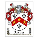 Archer Family Crest Small Poster