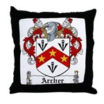 Archer Family Crest Throw Pillow