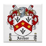 Archer Family Crest Tile Coaster
