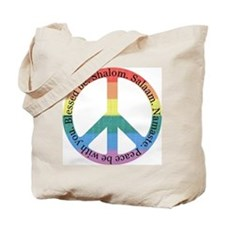 Queer Interfaith Peace Both Sides Tote Bag