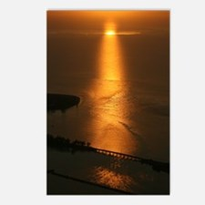 Aerial view of Florida sunset Postcards (Package o