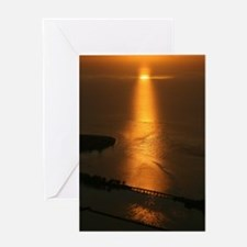 Aerial view of Florida sunset Greeting Card