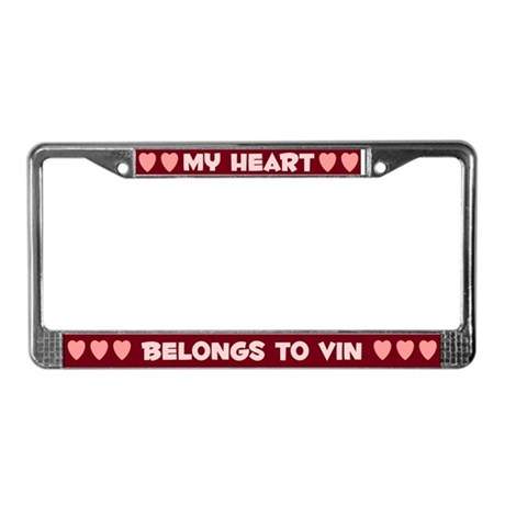 My Heart: Vin (#007) License Plate Frame