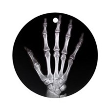Hand X Ray Ornament (Round)