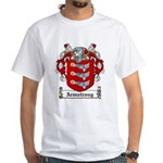 Armstrong Coat of Arms White T-Shirt
