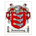 Armstrong Coat of Arms Small Poster