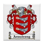 Armstrong Coat of Arms Tile Coaster