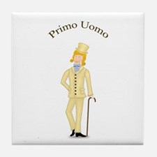 Blond Primo Uomo in Ivory Suit Tile Coaster