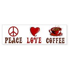 Peace Love Coffee 1 Bumper Bumper Sticker