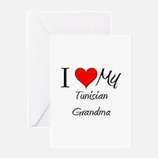 I Heart My Tunisian Grandma Greeting Card