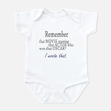 I wrote that. Infant Bodysuit