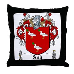 Ash Family Crest Throw Pillow