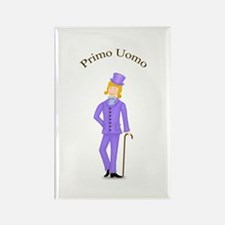 Blond Primo Uomo in Violet Suit Rectangle Magnet