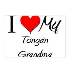 I Heart My Tongan Grandma Postcards (Package of 8)