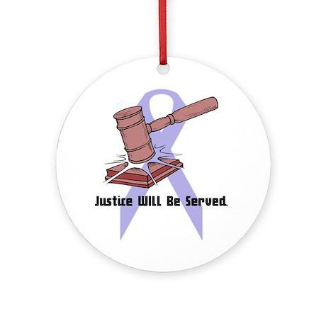 Domestic Violence Justice Keepsake (Round)