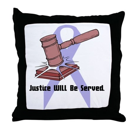Domestic Violence Justice Throw Pillow