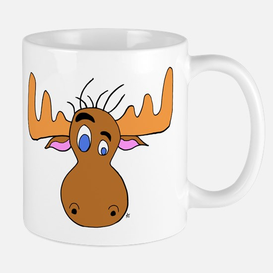 Cartoon Moose Antlers Mug