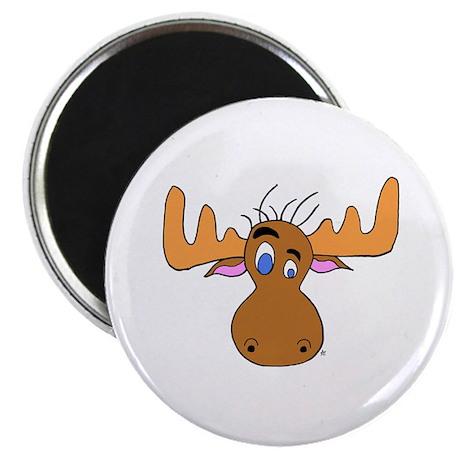 Cartoon Moose Antlers Magnet