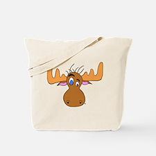 Cartoon Moose Antlers Tote Bag