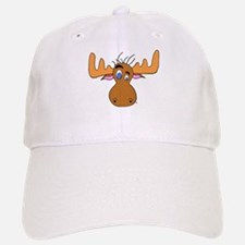 Cartoon Moose Antlers Baseball Baseball Cap