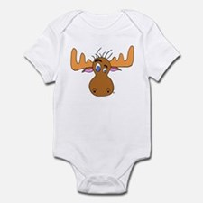 Cartoon Moose Antlers Infant Bodysuit