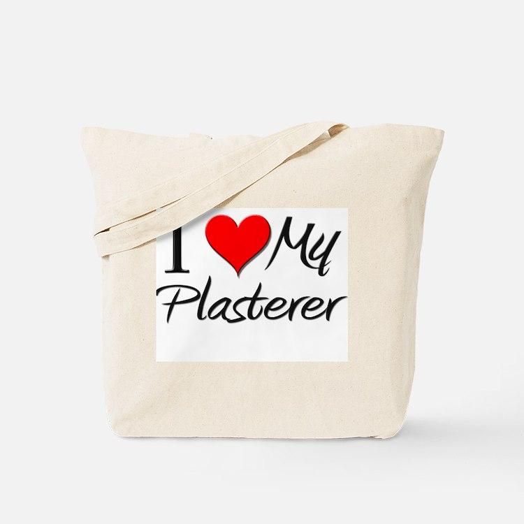 I Heart My Plasterer Tote Bag