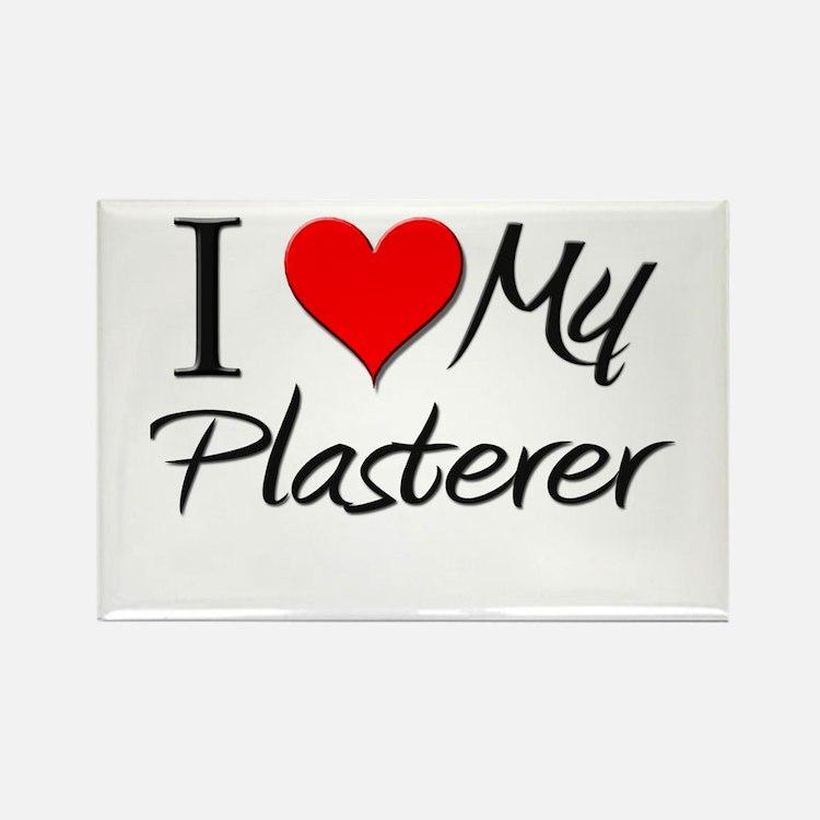 I Heart My Plasterer Rectangle Magnet