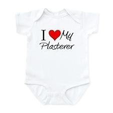 I Heart My Plasterer Infant Bodysuit