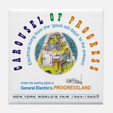 """Carousel of Progress"" Tile Coaster"