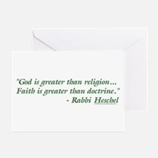 God is Greater than Religion Greeting Card