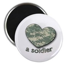 "Love a Soldier 2.25"" Magnet (100 pack)"
