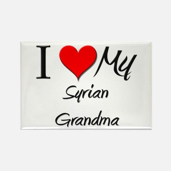 I Heart My Syrian Grandma Rectangle Magnet