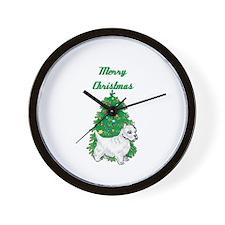 A Westie Christmas Tree Wall Clock