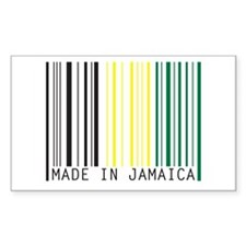 made in jamaica Rectangle Decal