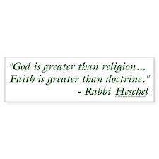 God is Greater than Religion Bumper Bumper Sticker