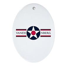 Vandenberg Air Force Base Oval Ornament