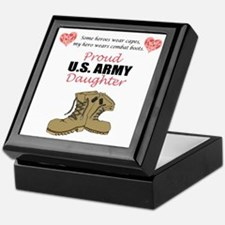 Proud US Army Daughter Keepsake Box