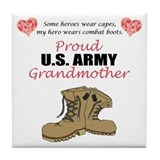 Army grandmother Tile Coasters