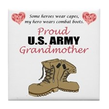Proud US Army Grandmother Tile Coaster