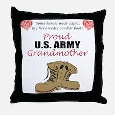 Proud US Army Grandmother Throw Pillow