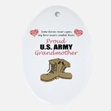 Proud US Army Grandmother Oval Ornament