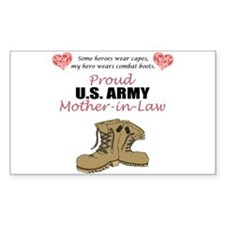Proud US Army Mother-In-Law Rectangle Decal