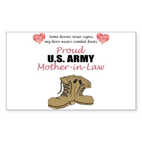 Proud US Army Mother-In-Law Rectangle Sticker