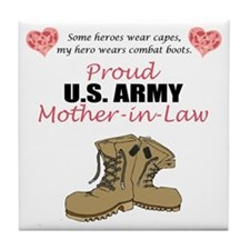 Proud US Army Mother-In-Law Tile Coaster