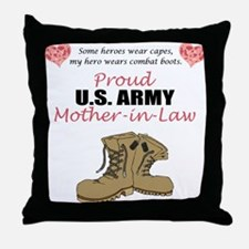 Proud US Army Mother-In-Law Throw Pillow
