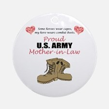Proud US Army Mother-In-Law Ornament (Round)